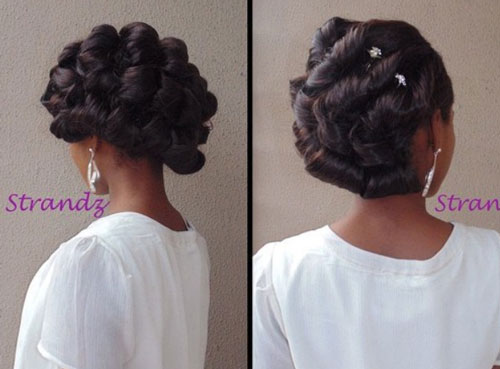 bridal hairstyles for short afro hair 30 Bridal Hairstyles for Short Afro Hair african american bride hairstyles 7 1