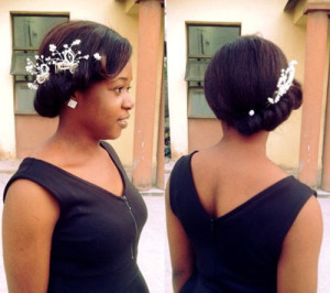 bridal hairstyles for short afro hair 20 african american bride hairstyles 8 1 300x266