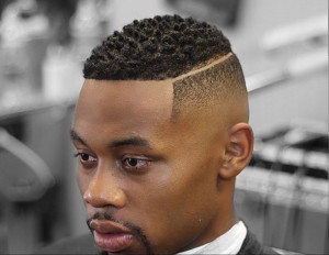 Low Side Parted Taper 3 african american men hairstyles 25 300x232