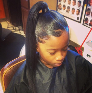 African american ponytail hairstyles 9 african american ponytail hairstyles 2 297x300