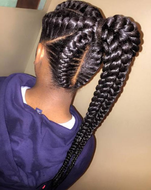 braid hairstyles for black women Braid Hairstyles for Black Women braid hairstyles for black women 7