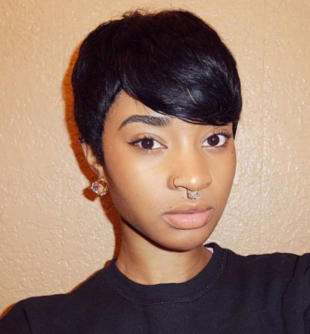 short hairstyles for black women Cute Short Hairstyles for Black Women short hairstyles for black women 7