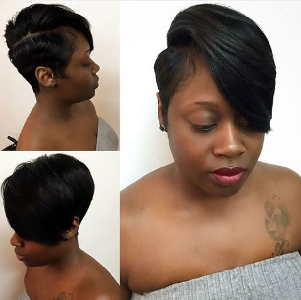 short hairstyles for black women Cute Short Hairstyles for Black Women short hairstyles for black women 8