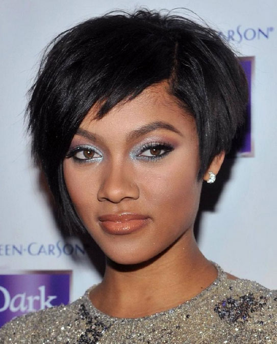 short hairstyles for black women Cute Short Hairstyles for Black Women short hairstyles for black women 9