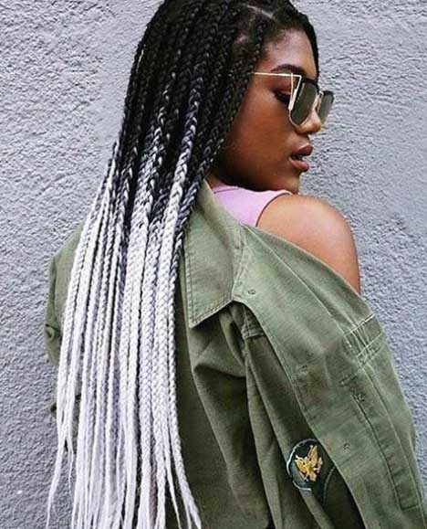 Black and White Box Braids box braids hairstyles Best Box Braids Hairstyles for Black Women Box Braids Hairstyles for Black Women 15