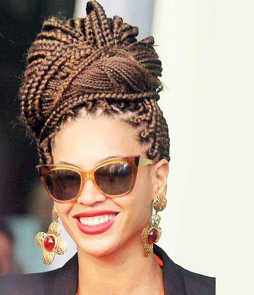 "The ""Beyonce"" Bun box braids hairstyles Best Box Braids Hairstyles for Black Women Box Braids Hairstyles for Black Women 8"