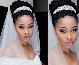 frican American Bride Hairstyles 10 african american bride hairstyles 10 300x247