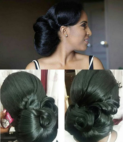 Marvelous Black Bridal Hairstyles For Long Hair Hairstyle Inspiration Daily Dogsangcom