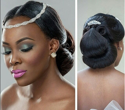 Terrific Black Bridal Hairstyles For Long Hair Hairstyle Inspiration Daily Dogsangcom