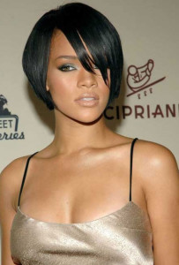 Rihanna black celebrity hairstyles black celebrity hairstyles 203x300