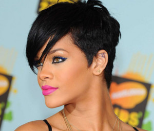 Rihanna black celebrity hairstyles 4 black celebrity hairstyles 4 300x256