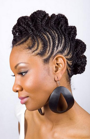 braid hairstyles for black women Braid Hairstyles for Black Women bridal hairstyles for short afro hair 25