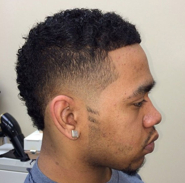 african american men hairstyles African American Men Hairstyles low tapered fro out 3