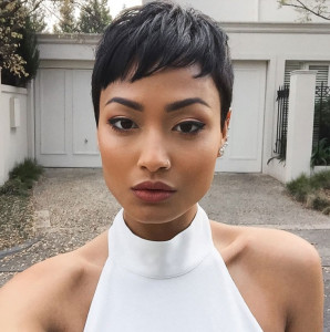 Cropped short hairstyles for black women 1 298x300