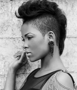 Mohawk short hairstyles for black women 11 256x300