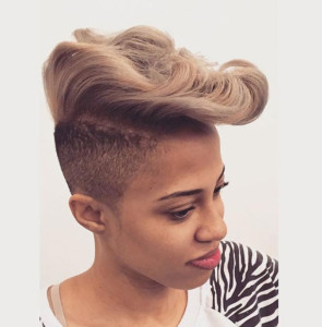 Mohawk 2 short hairstyles for black women 12 295x300