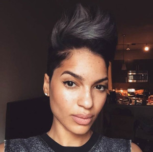 Faux Hawk short hairstyles for black women 17 300x297