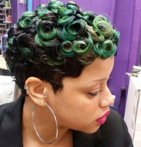 Pin Curls short hairstyles for black women 30 288x300