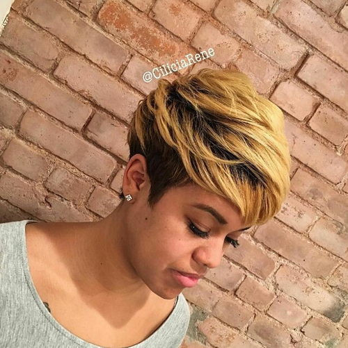 pixie hairstyles for black women The Pixie Hairstyles for Black Women pixie hairstyles for black women 18
