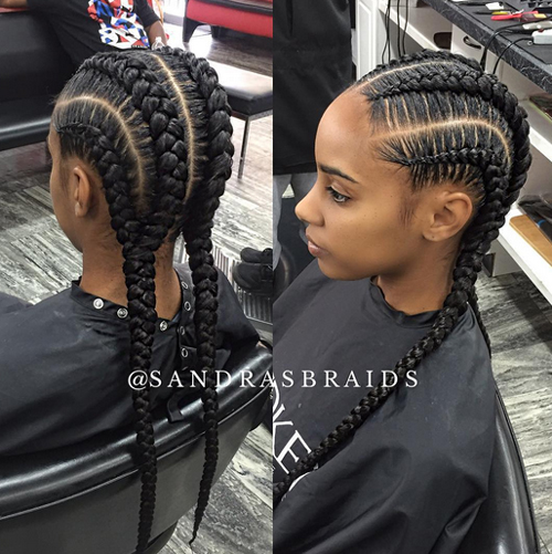 Peachy African American Cornrow Hairstyles Hairstyles For Women Draintrainus